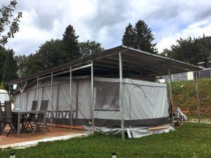 Verlängertes Vorzeltschutzdach